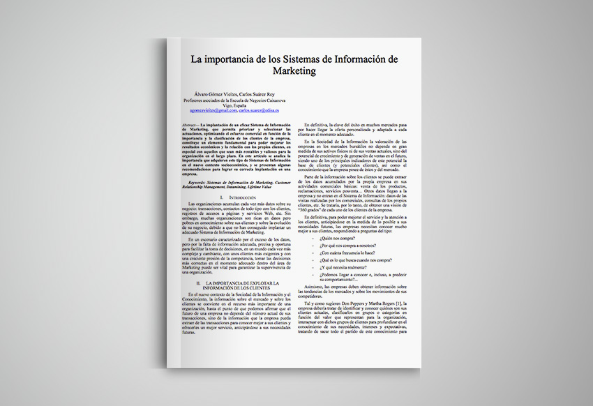 La importancia de los Sistemas de Información de Marketing